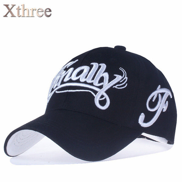 100% cotton baseball cap women casual snapback hat for men Letter embroidery hat
