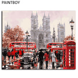 European Landscape Frameless Pictures Painting By Numbers DIY Canvas Painting By Numbers 40*50cm Home Decoration For Living Room