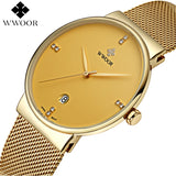 Top Brand Luxury Men's Watch 50m Waterproof Date Clock Male Sports Watches Men Quartz Casual Wrist Watch Gold
