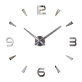 Wall clock quartz watch living room large decorative clocks modern still life stickers