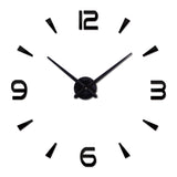 Vintage Wall Clock Modern Design Large Diy Acrylic Clocks Quartz Watch 3d Stickers Living Room