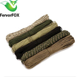 100 colors Paracord 550 10Meter Paracord Rope Type III 7 Stand Parachute Cord Outdoor Camping Survival Rope