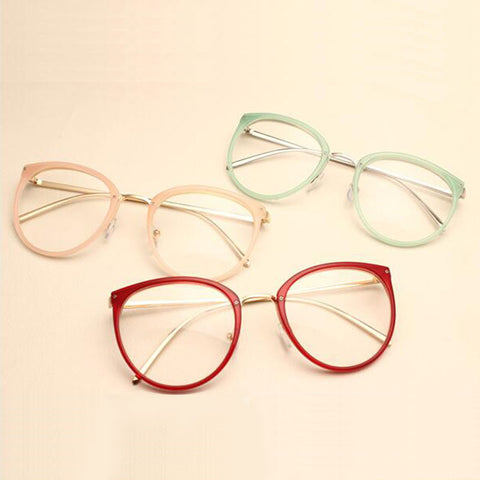 Vintage Decoration Optical Eyeglasses Frame myopia round metal women spectacles eye glasses