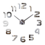 Wall clock watch living room needle quartz home decoration clocks acrylic mirror sticker diy