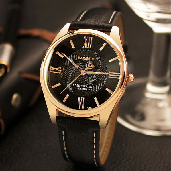YAZOLE Man Wrist Watch Men Watches Top Brand Luxury Famous Male Clock Quartz Watch Casual