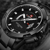 NAVIFORCE Mens Watches Top Brand Luxury Sports Quartz Watch 3ATM Waterproof Men's stainless steel Wrist watch