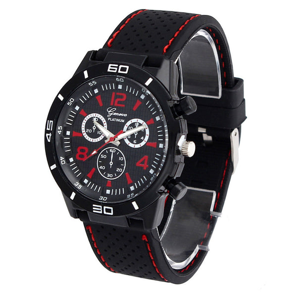 Clock Buckle Geneva Alloy Men Digital Dial Analog Quartz Men's Wrist Watch Men Military Watches