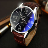 Mens Watches Top Brand Luxury Yazole Watch Men Fashion Business Quartz-watch Minimalist Belt Male Watches