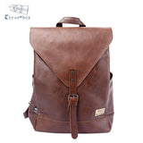 Three-Box Mens Backpack For Teenagers Male PU Leather Bag School Satchel Laptop Women Backpack Casual Rucksack Teenagers