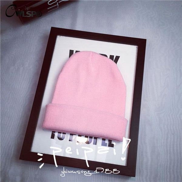 Autumn & Winter Women Knitted Beanies 15 Colors Available Fashion Street Wind Cozy Elasticity Caps & Hats