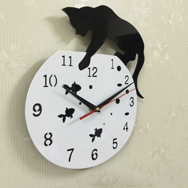 Quartz wall clock acrylic mirror needle diy clocks living room modern watches 3d stickers