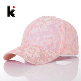 Women's Baseball Caps Lace Sun Hats Breathable Mesh Hat Summer Cap For Women Snapback