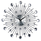 Vintage Metal Art Wall Clock Luxury Diamond Large Wall Watch Clock Modern Design Home Decor