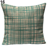 Vintage Geometric Flower Cotton Linen Throw Pillow Case Cushion Cover Home