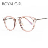 ROYAL GIRL High Quality TR Frame Fashion Glasses Women Eyeglasses frame Vintage Round Clear Lens Glasses