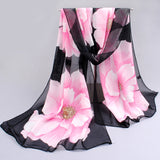 10 colors 2017 new fashion chiffon scarf polyester print autumn summer Pattern silk scarves shawl women