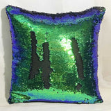 Mermaid Cushion cover Reversible pillow case decoration DIY Sequin pillow cover