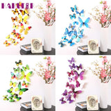 1 Set 3D DIY Wall Sticker Stickers Butterfly Home Decor Room Decorations