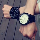 Fashion Men Necessary Sport Large Dial Student Watch Neutral Silicone Watches Business Wristwatch