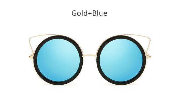 Cute Girls Cat Eye Sunglasses Women Fashion Pink Coating Mirror Cateye Sun Glasses Ladies Female Vintage Eyewear UV400