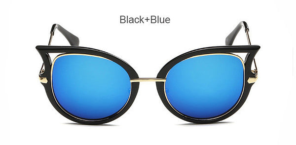 Classic Vintage Women Cat Eye Sunglasses Fashion Luxury Brand Designer Ladies Mirror Sun Glasses For Woman Female Oculos UV400
