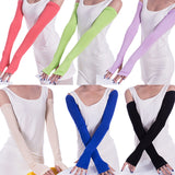 1 Pair Fashion Summer Style Women Arm Warmer Cotton Long Fingerless Gloves Gift Anti-UV Simple Design