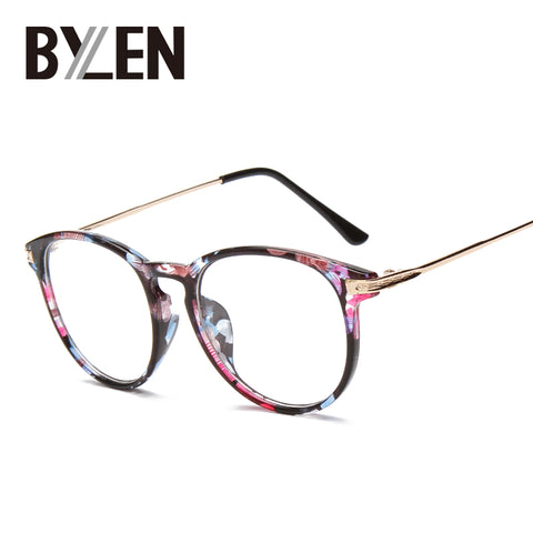 335b6b70c1d Reading glasses Retro Unisex Metal points womens eye glasses frame Bra –  Luxberra