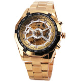 Winner Watch Men Skeleton Automatic Mechanical Watch gold skeleton vintage watch Mens Watch Top Brand Luxury