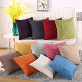 Fashion 8 color Solid Pillowcase Simple Plain Decorative Cushion Cover Home Decoration Products Sofa Car Chair Pillow Case