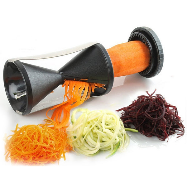 Fashion Spiral Vegetable Slicer Fruit Cutter Peeler Kitchen Twister Kitchen Cooking Tool spiralizer cutter