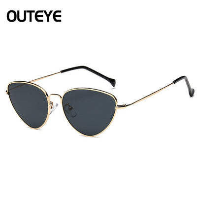 Cat Eye Women Sunglasses Tinted Color Lens Vintage Shaped Sun Glasses Women Eyewear 70s Luxe Red Female Sunglasses