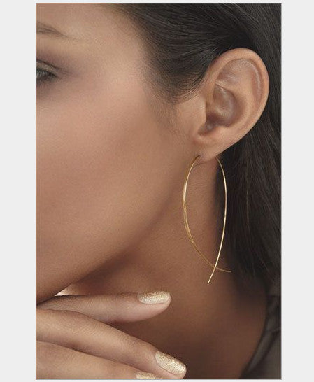 Fashion Design Earrings for Women Simple Fish Stud Earrings Simple Metal Ear Jewelry