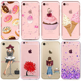 Colorful Donuts Macaron Phone Cases For iphone 7 7plus 6 6S 5 5S SE 6Plus 6SPlus Girls Design Love Heart Phone Case for iPhone