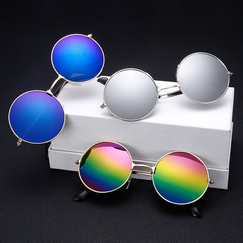 Fashion Round Metal Frame Sunglasses Men Women Retro Classic Prince Mirror Circle Round Sunglasses Muti-Colors Optional