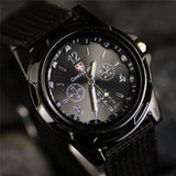Sport Watches Men Leather Nylon Military Army Waterproof clock  Men Outdoor Quartz watch