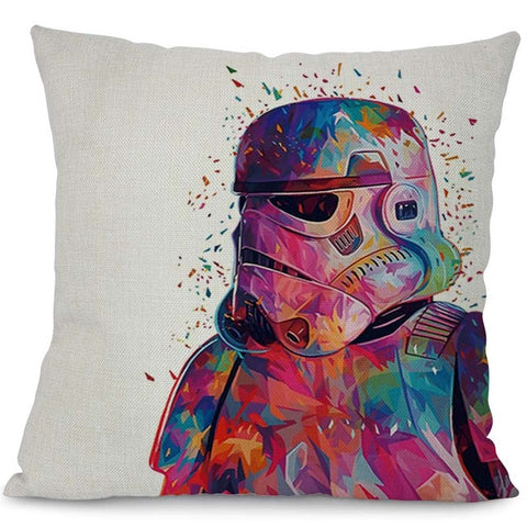 Brilliant Miracille Watercolor Star Wars Printed Throw Pillowcase Cushion Cover Office Chair Seat Cartoon Cushion Case Home Textile Ncnpc Chair Design For Home Ncnpcorg