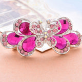 1 pc Retro Vintage Hairpins Ladies Crystal Butterfly Hair clip girl barrette hair accessories for women pink  or blue color