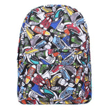 Graffiti Canvas Backpack Students School Bag For Teenage Girls Boys Backpacks Street Bags Cartoon Printing Rucksack