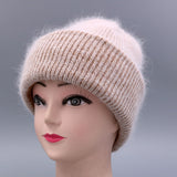 Women hat for autumn winter knitted wool beanies fashion hats casual caps quality female hat