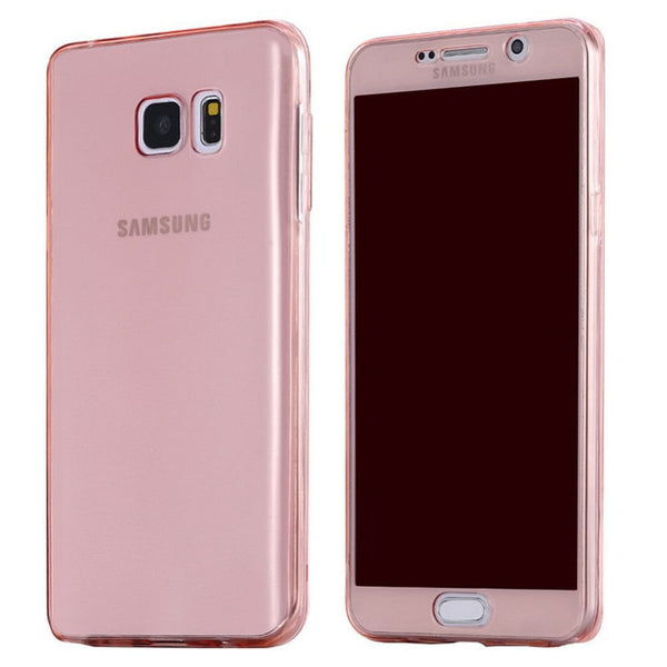 360 Full Body Cover Case For Samsung Galaxy A3 A5 A7 2017 J5 J7 2016 S8 S7 S6 Edge Plus S5 Grand prime Phone Cases Soft TPU Back