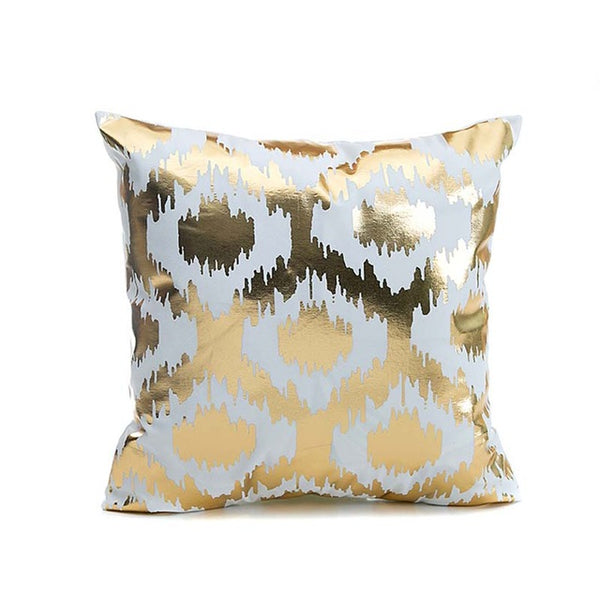 43x43cm/17x17'' Linen&Polyester Bronzing Cushion Cover Printed Decorative Pillow Cases Home Sofa Pillowcase