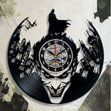 Black Classic Old Record Concept Wall Clock Antique Retro CD Batman Vinyl Clocks Quartz mechanism