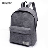 Bokinslon Women Backpack Men Popular Solid Color Backpack For Woman School Bag College Wind Small Fresh Fashion Backpack