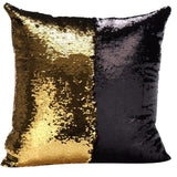 Pattern DIY Color Patchwork Glitter Sequins Throw Pillow Case Cafe Home Square Cushion Covers