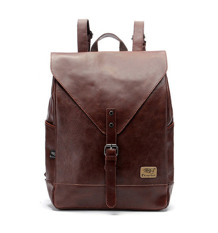 5297c1f9d8 ... Three-Box Mens Backpack For Teenagers Male PU Leather Bag School Satchel  Laptop Women Backpack