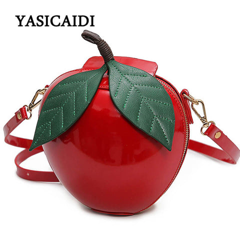 5d30976634 Women Crossbody Bags Famous Brand Red Circular Apple Bag Fashion Femal –  Luxberra