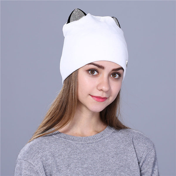 Xthree Flannelette women autumn winter hat cute kitty children beanies –  Luxberra 8d80eac7940
