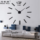 Home decor big wall clock modern design living room quartz Metal  decorative designer clocks wall watch