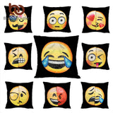 Emoji Cushion Cover Reversible DIY Sequin Mermaid Pillow Case Funny Changing Smiley Faces Decorative Pillowcase
