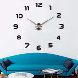 Fashion 3D big size wall clock mirror sticker DIY wall clocks home decoration wall clock for meeting room